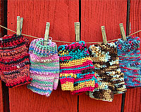 Crocheted Fingeless Gloves