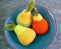 Felted Wool Pears