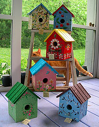 Hand-painted Birdhouses