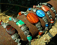 Natural Stones, Wood, and Mother of Pearl