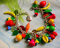 Fruits & Veggies Charm Bracelet
