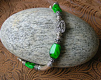 Green Art Glass and Silverplate